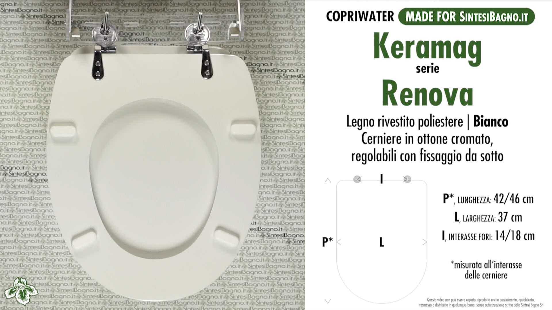 Schede tecniche misure copriwater keramag serie renova - Keramag for you ...