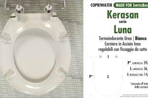 SCHEDA TECNICA MISURE copriwater KERASAN LUNA