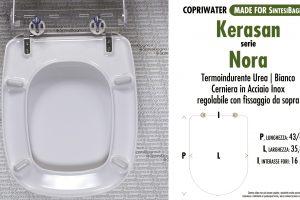SCHEDA TECNICA MISURE copriwater KERASAN NORA