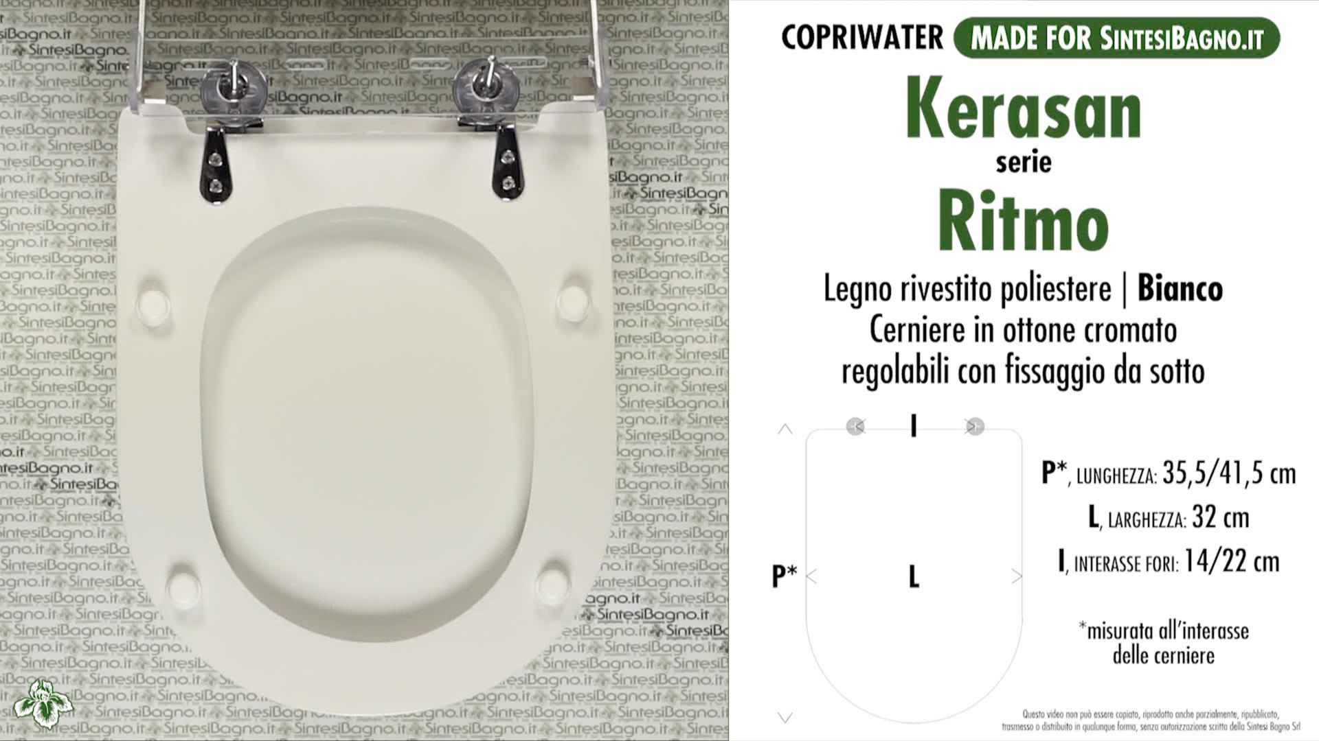SCHEDA TECNICA MISURE copriwater KERASAN RITMO