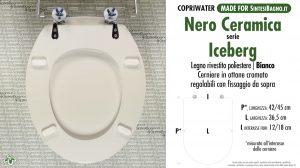 SCHEDA TECNICA MISURE copriwater NERO CERAMICA ICEBERG