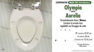 SCHEDA TECNICA MISURE copriwater OLYMPIA AURELIA