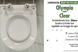 SCHEDA TECNICA MISURE copriwater OLYMPIA CLEAR