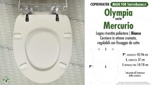 SCHEDA TECNICA MISURE copriwater OLYMPIA MERCURIO