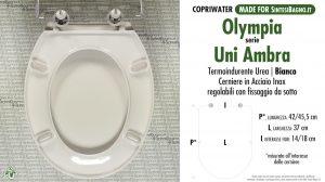 CHEDA TECNICA MISURE copriwater OLYMPIA UNI AMBRA