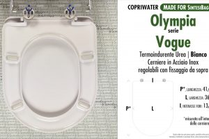 SCHEDA TECNICA MISURE copriwater OLYMPIA VOGUE
