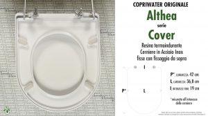 SCHEDA TECNICA MISURE copriwater ALTHEA COVER
