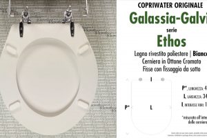 SCHEDA TECNICA MISURE copriwater GALASSIA-GALVIT ETHOS