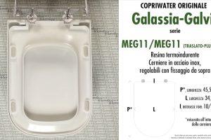 SCHEDA TECNICA MISURE copriwater GALASSIA-GALVIT MEG11