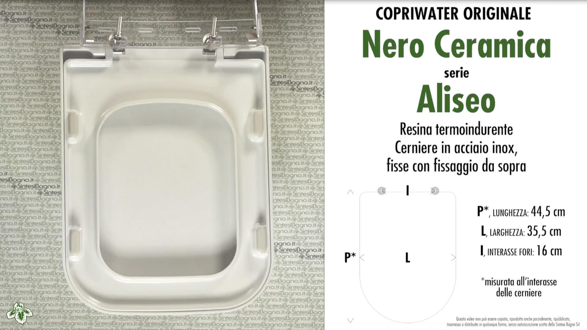 Schede tecniche Nero Ceramica Aliseo