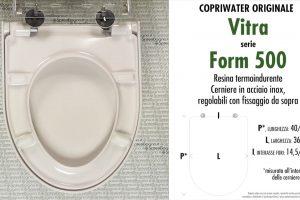 SCHEDA TECNICA MISURE copriwater VITRA FORM 500