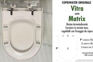SCHEDA TECNICA MISURE copriwater VITRA MATRIX