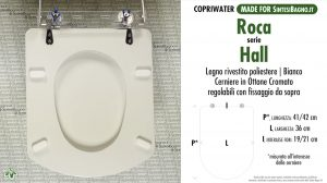 SCHEDA TECNICA MISURE copriwater ROCA HALL