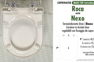 SCHEDA TECNICA MISURE copriwater ROCA NEXO