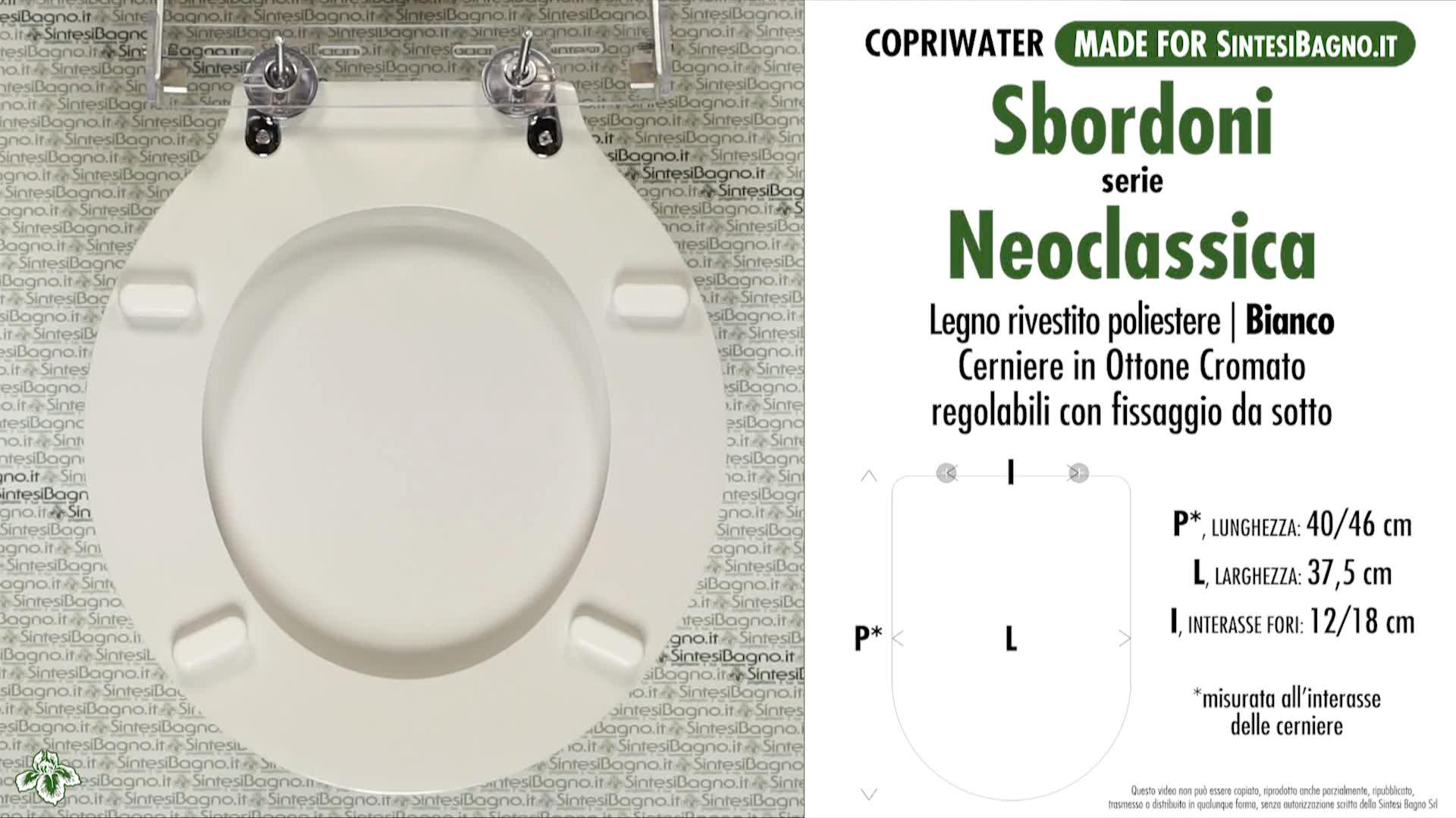 SCHEDA TECNICA MISURE copriwater SBORDONI NEOCçASSICA