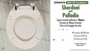 SCHEDA TECNICA MISURE copriwater SBORDONI PALLADIO