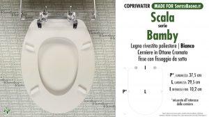 SCHEDA TECNICA MISURE copriwater SCALA BAMBY