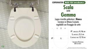 SCHEDA TECNICA MISURE copriwater SCALA GEMMA