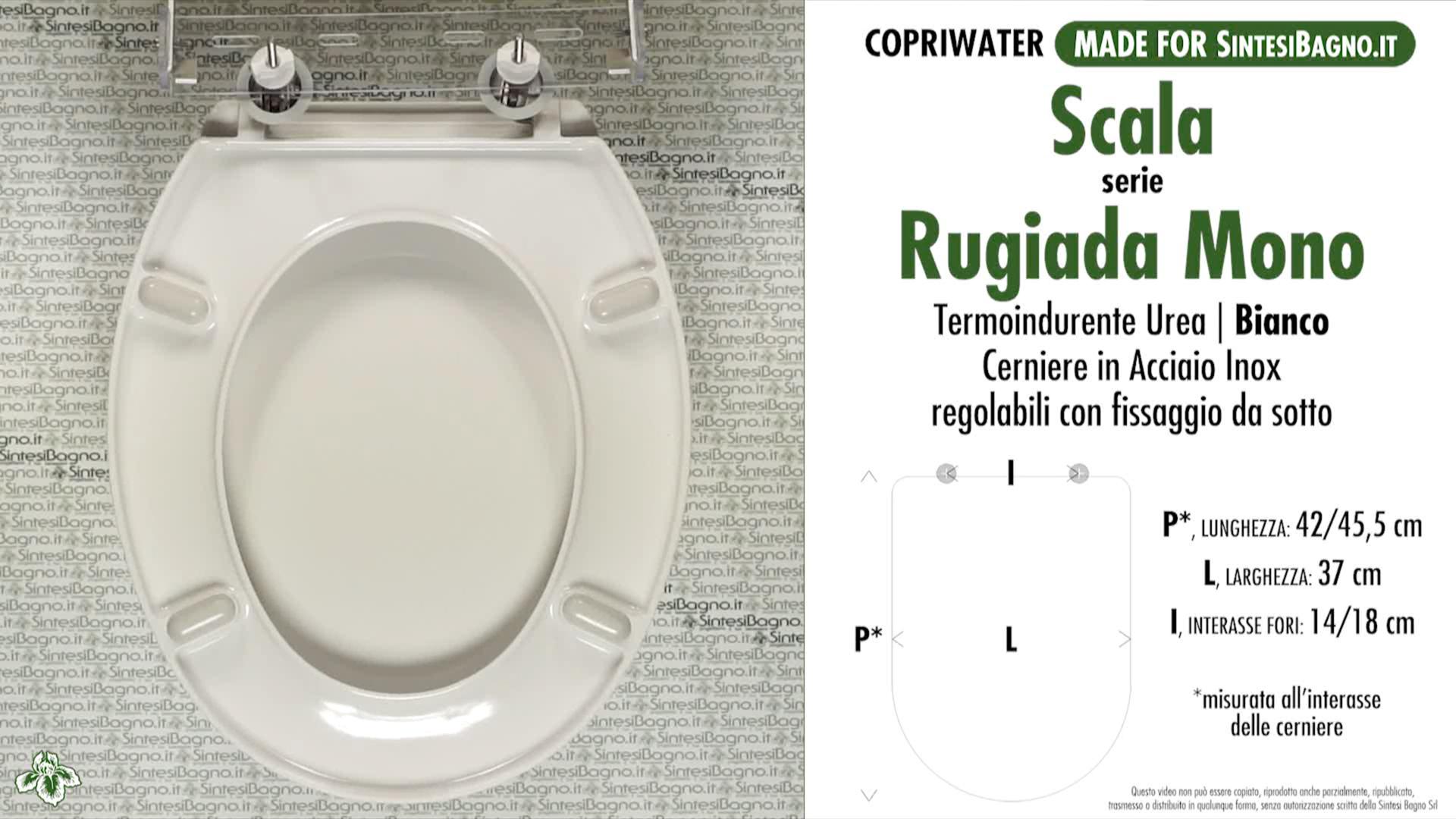 SCHEDA TECNICA MISURE copriwater SCALA RUGIADA