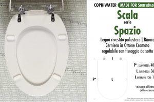 SCHEDA TECNICA MISURE copriwater SCALA SPAZIO