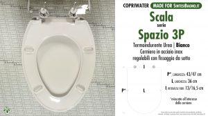 SCHEDA TECNICA MISURE copriwater SCALA SPAZIO 3P
