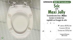 SCHEDA TECNICA MISURE copriwater SCIC MAXI JOLLY