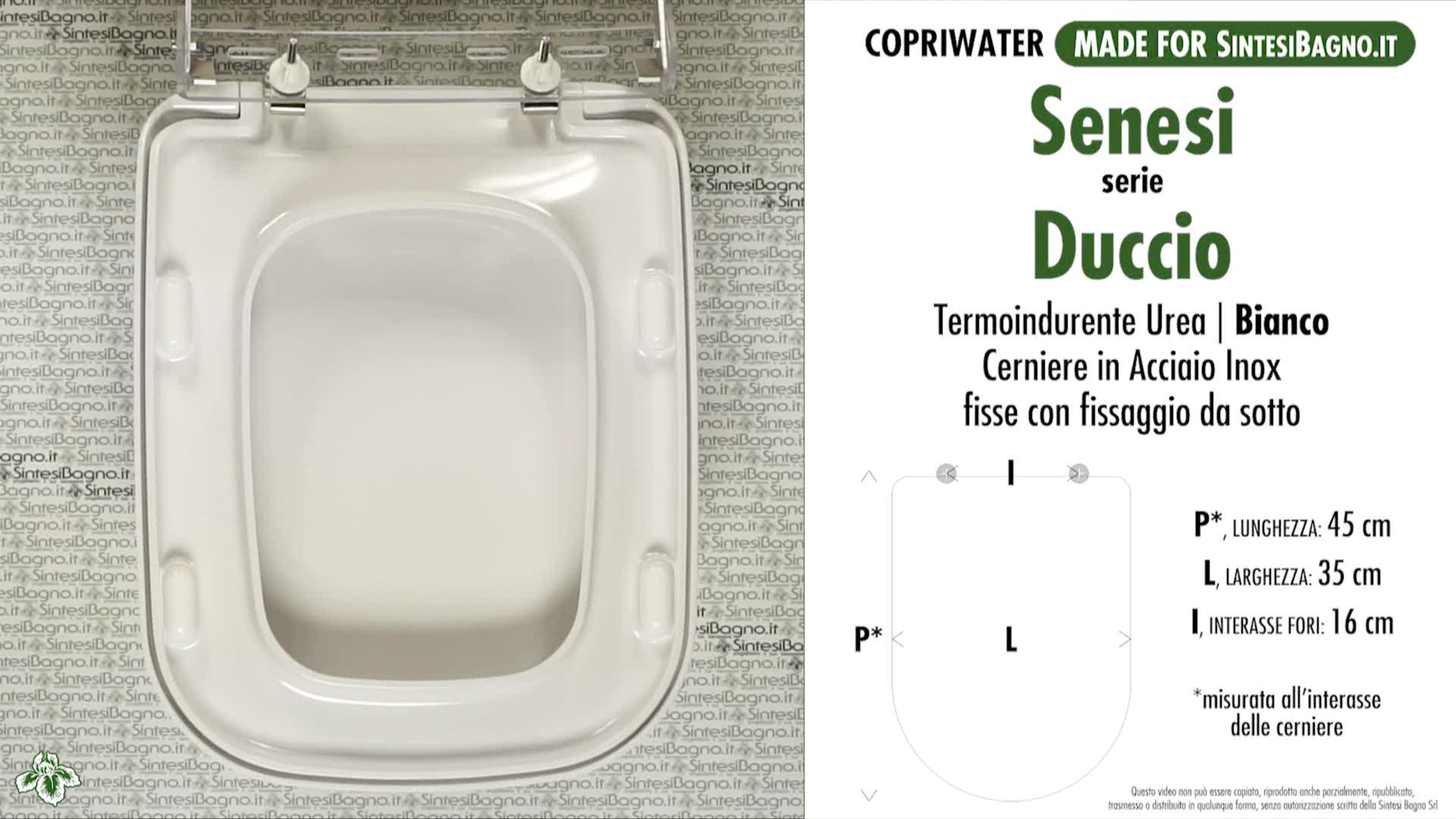 Schede tecniche misure copriwater senesi serie duccio for Calla ideal standard scheda tecnica