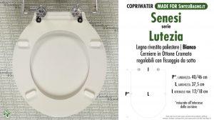 SCHEDA TECNICA MISURE copriwater SENESI LUTEZIA