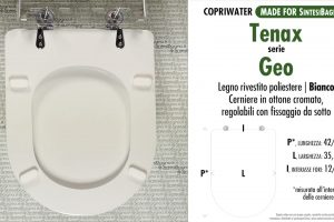 SCHEDA TECNICA MISURE copriwater SIMI-TENAX GEO