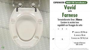 SCHEDA TECNICA MISURE copriwater VAVID FARNESE