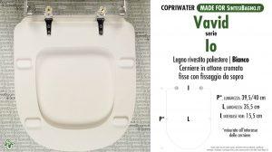SCHEDA TECNICA MISURE copriwater VAVID IO