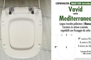 SCHEDA TECNICA MISURE copriwater VAVID MEDITERRANEA