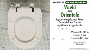 SCHEDA TECNICA MISURE copriwater VAVID ORIENTALE