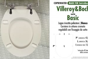 SCHEDA TECNICA MISURE copriwater VILLEROY&BOCH BASIC
