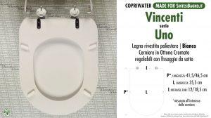 SCHEDA TECNICA MISURE copriwater VINCENTI UNO
