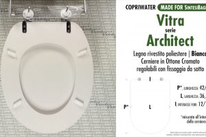 SCHEDA TECNICA MISURE copriwater VITRA ARCHITECT