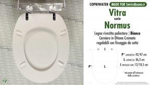 SCHEDA TECNICA MISURE copriwater VITRA NORMUS