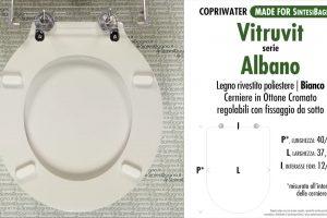 SCHEDA TECNICA MISURE copriwater VITRUVIT ALBANO