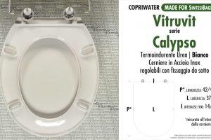 SCHEDA TECNICA MISURE copriwater VITRUVIT CALYPSO