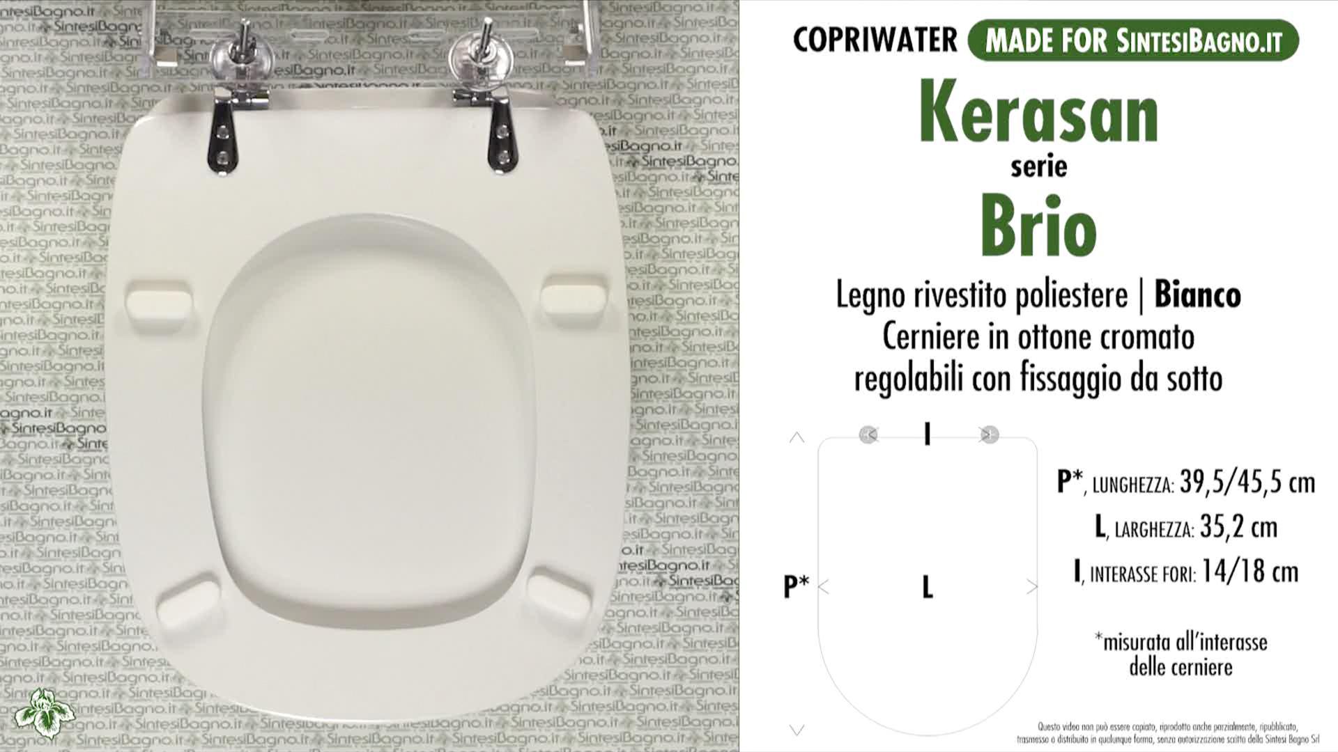 SCHEDA TECNICA MISURE copriwater KERASAN BRIO