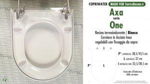 SCHEDA TECNICA MISURE copriwater AXA ONE