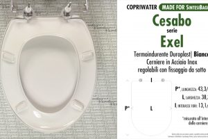 SCHEDA TECNICA MISURE copriwater CESABO PRESTIGE