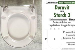CHEDA TECNICA MISURE copriwater LAUFEN/DURAVIT STARCK 3