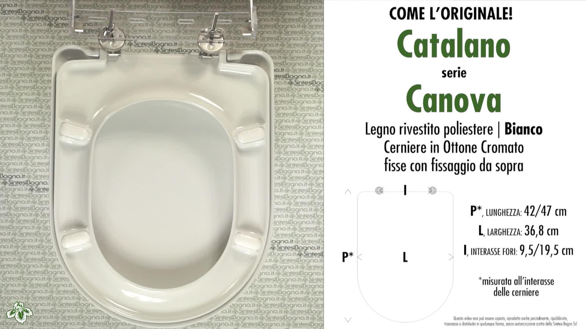 Schede tecniche Catalano Canova