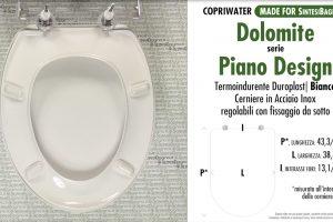 SCHEDA TECNICA MISURE copriwater DOLOMITE PIANO DESIGN