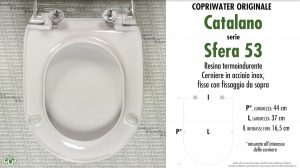 SCHEDA TECNICA MISURE copriwater CATALANO ACQUA