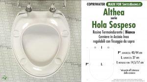 SCHEDA TECNICA MISURE copriwater ALTHEA HOLA