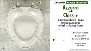 SCHEDA TECNICA MISURE copriwater AZZURRA CLASS+