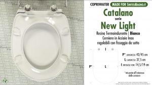 SCHEDA TECNICA MISURE copriwater CATALANO NEW LIGHT