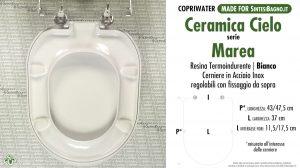 SCHEDA TECNICA MISURE copriwater CIELO MAREA